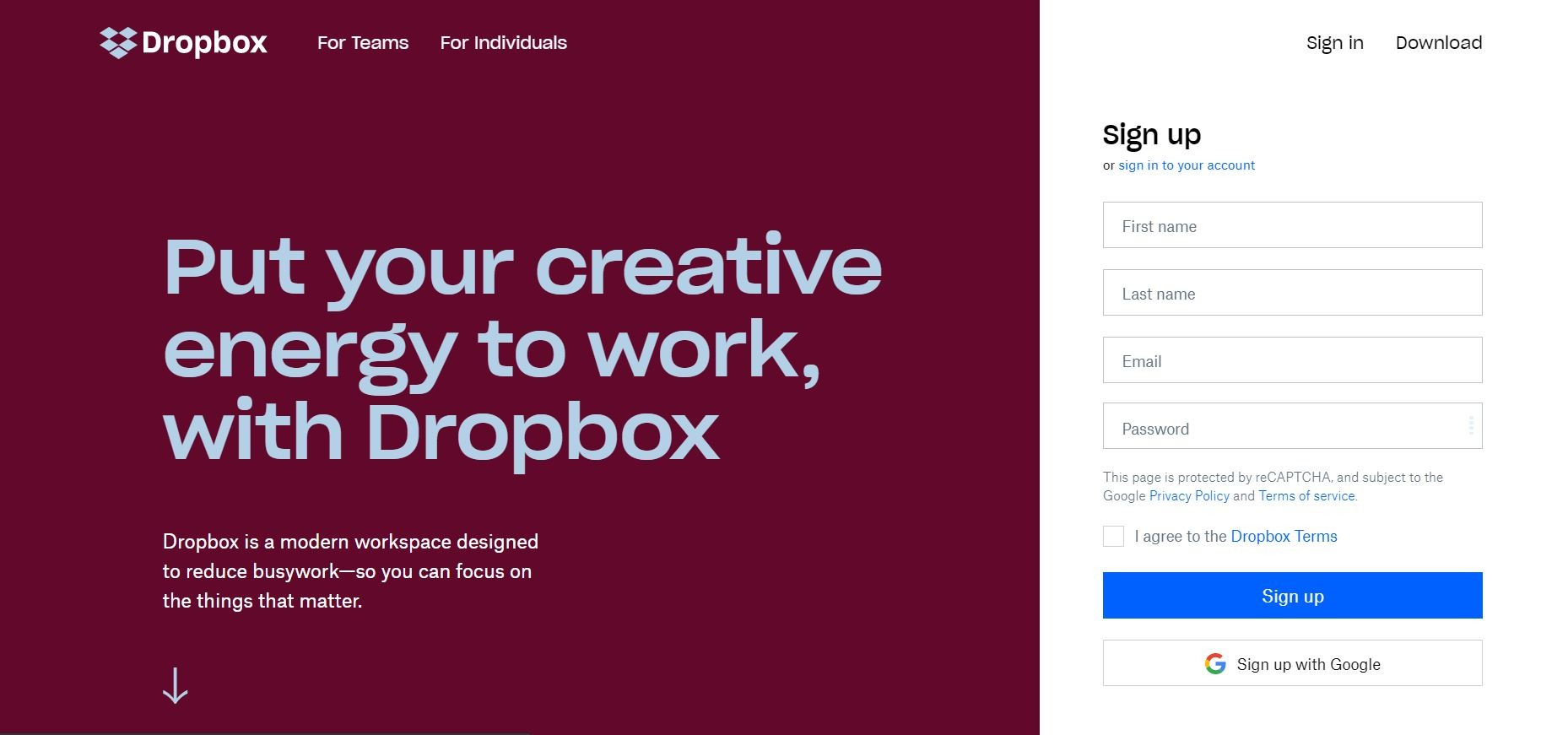 DropBox Homepage - Embed Dropbox images and Videos