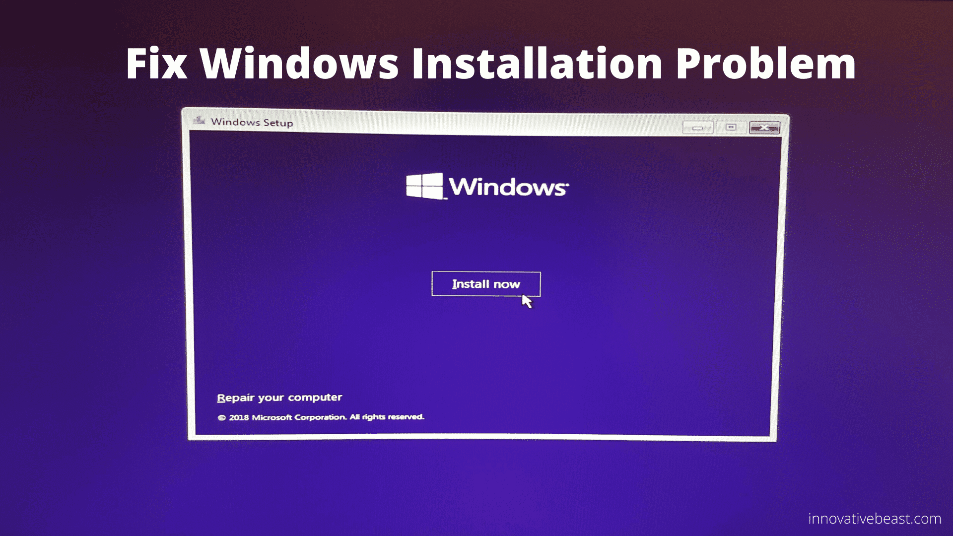 How to solve Windows cannot be installed Disk 0 Partition 1 Error GPT Style Problem