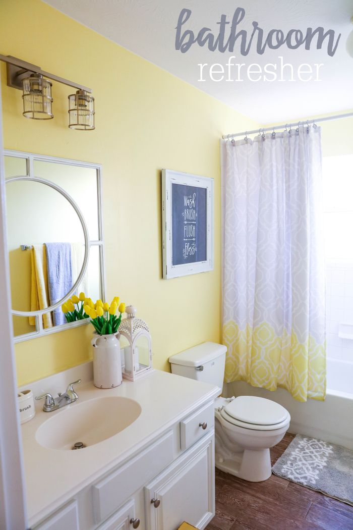 Best Yellow Color For Small Bathroom