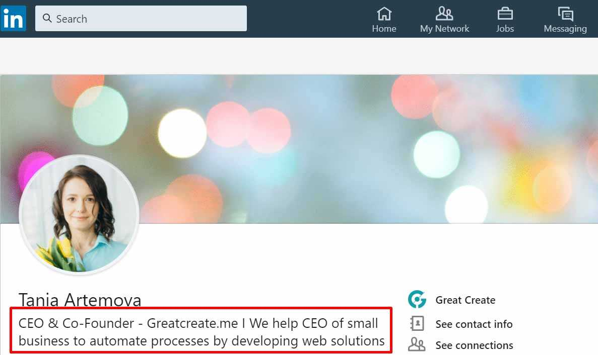 LinkedIn profile optimization to sell services online
