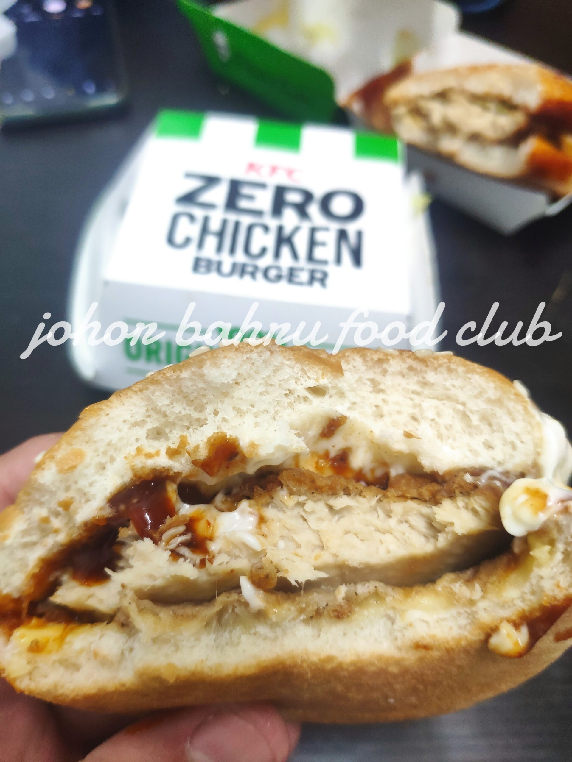 KFC Zero Chicken Burger. Gimik power, rasa ?