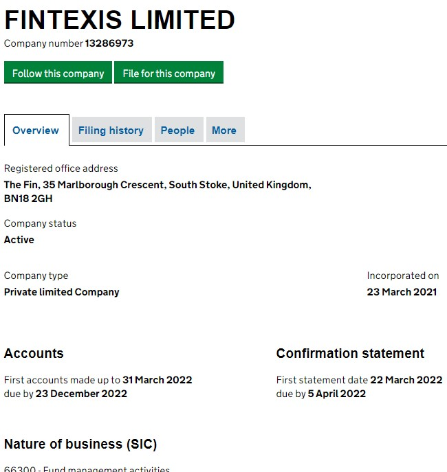 Fintexis Limited