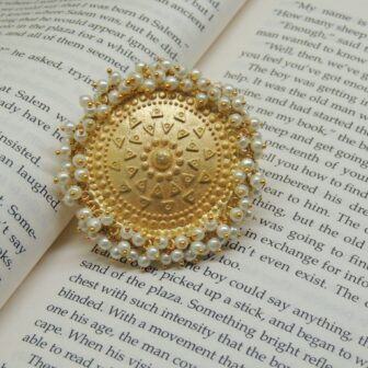 Traditional Handcrafted Gold Plated Pearl Ring 1