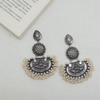 Silver Plated Handcrafted Beads Designer Earring 1