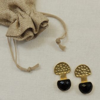 Handcrafted Gold Plated D-Shape Studs 1