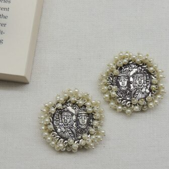 Ancient Handcrafted Sliver Plated Studs 1