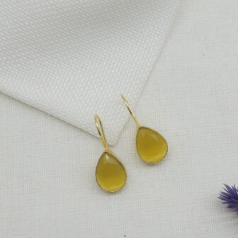 Light Weighted Hook Yellow Earring 1