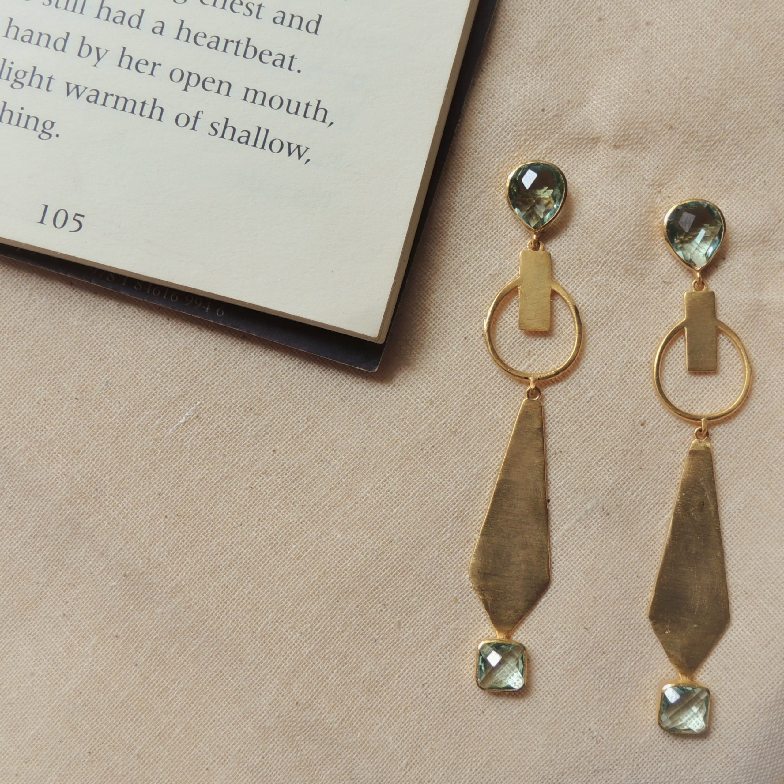 Matte Plated Statement Earring 1