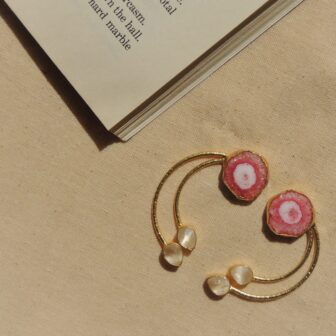 Western Natural Stone Wired Earring