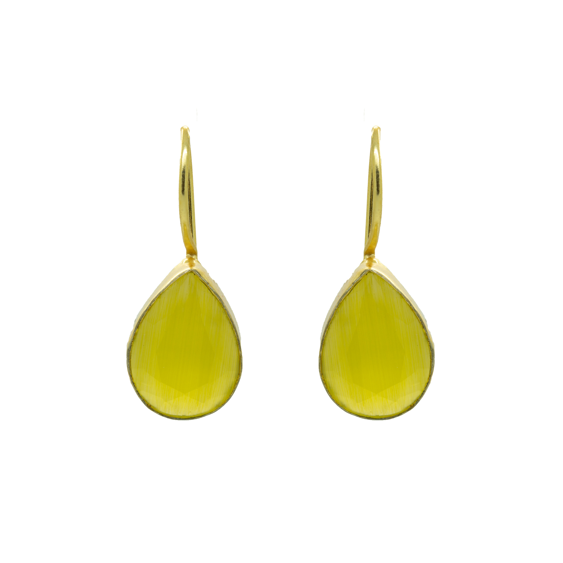 Light Weighted Hook Yellow Earring 2
