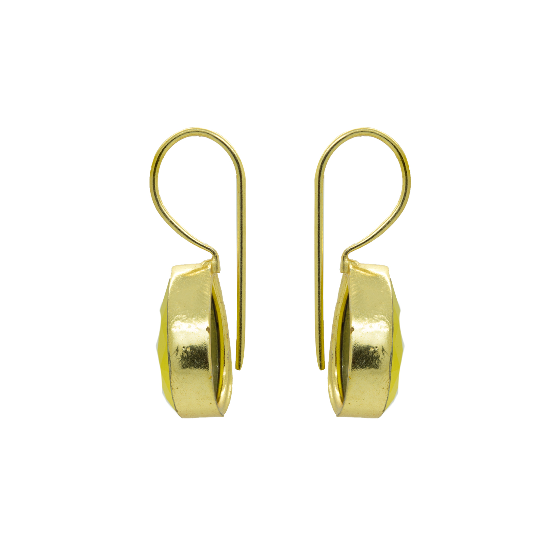 Light Weighted Hook Yellow Earring