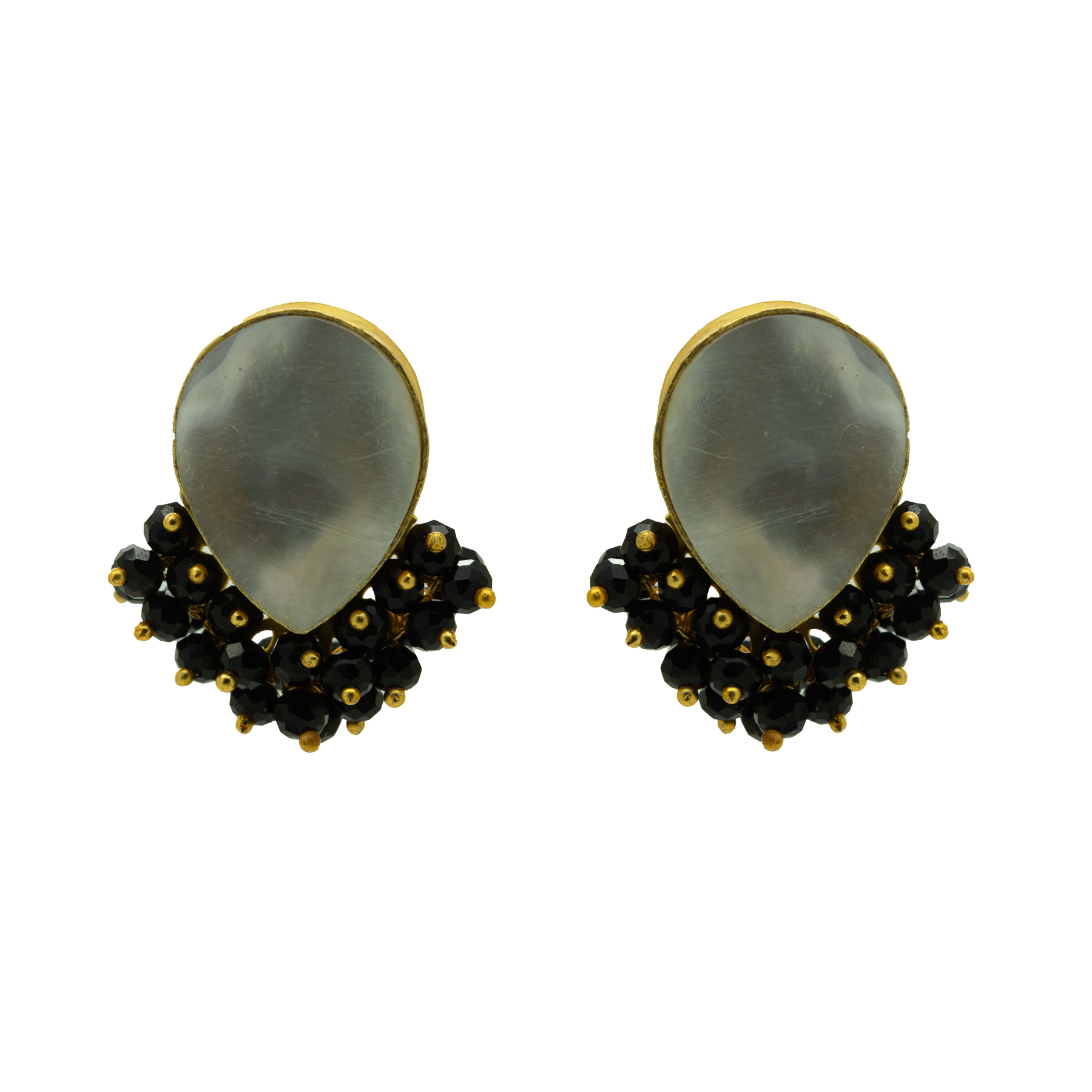 Casual Wear MOP Gold Plated Studs 2