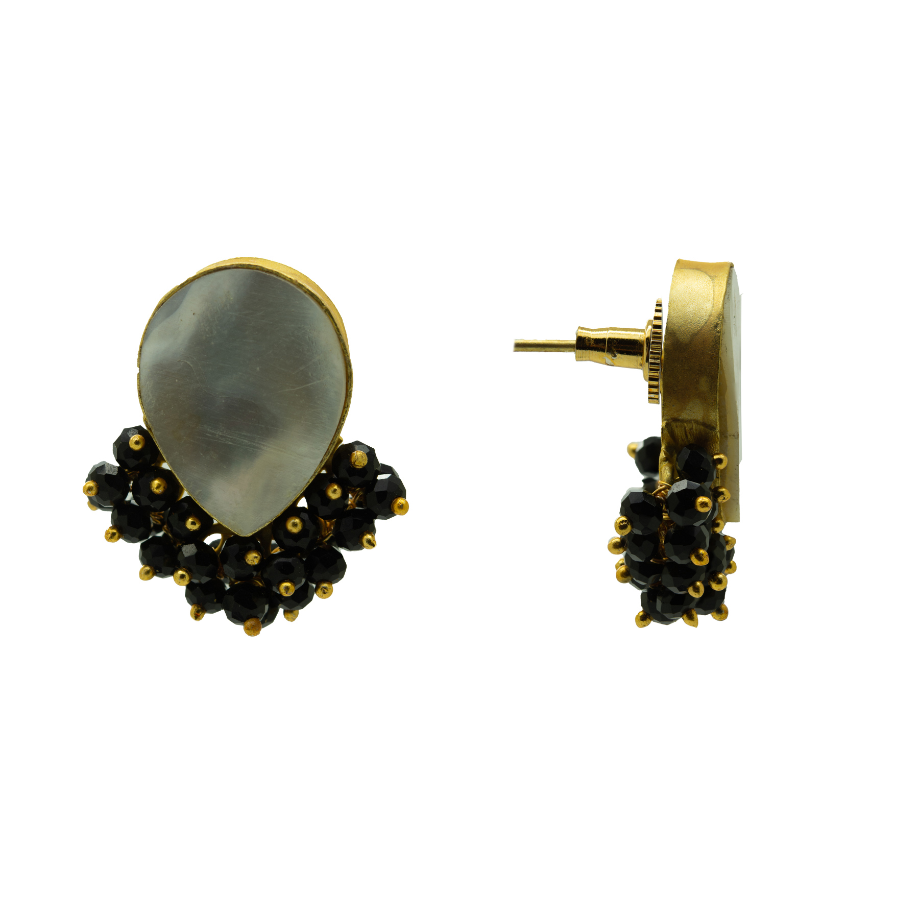 Casual Wear MOP Gold Plated Studs