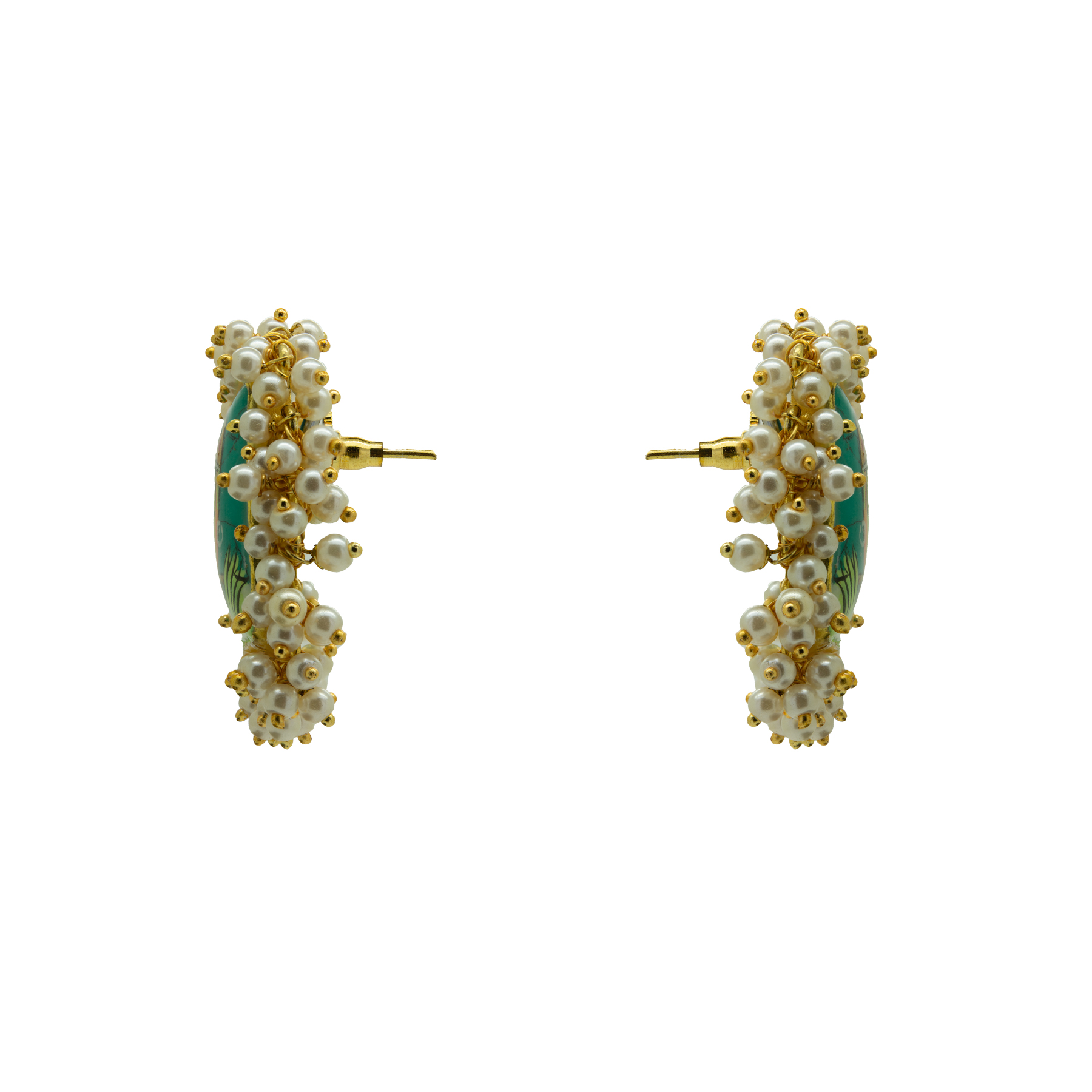 Hand-painted Krishna Gold Plated Studs