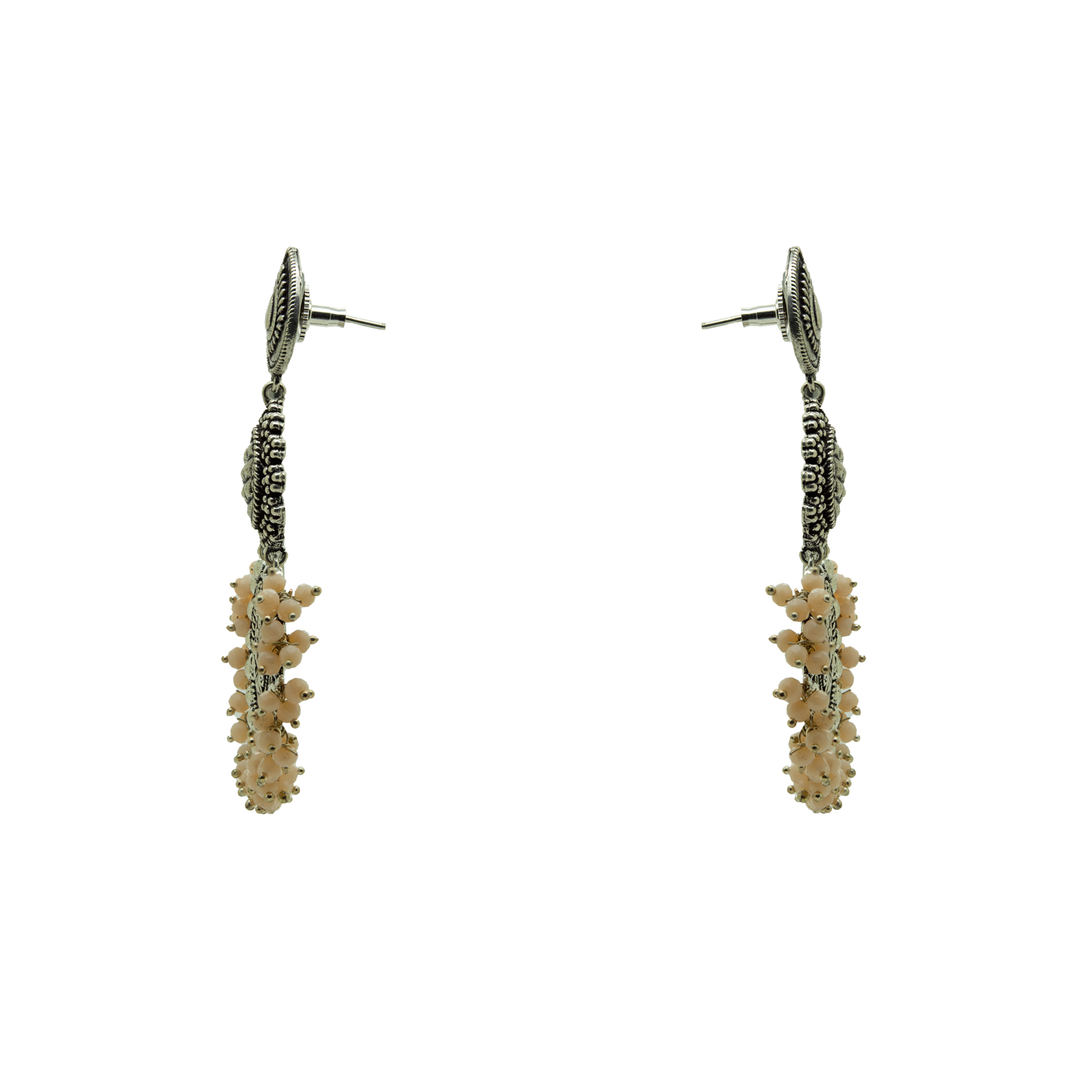 Silver Plated Handcrafted Beads Designer Earring