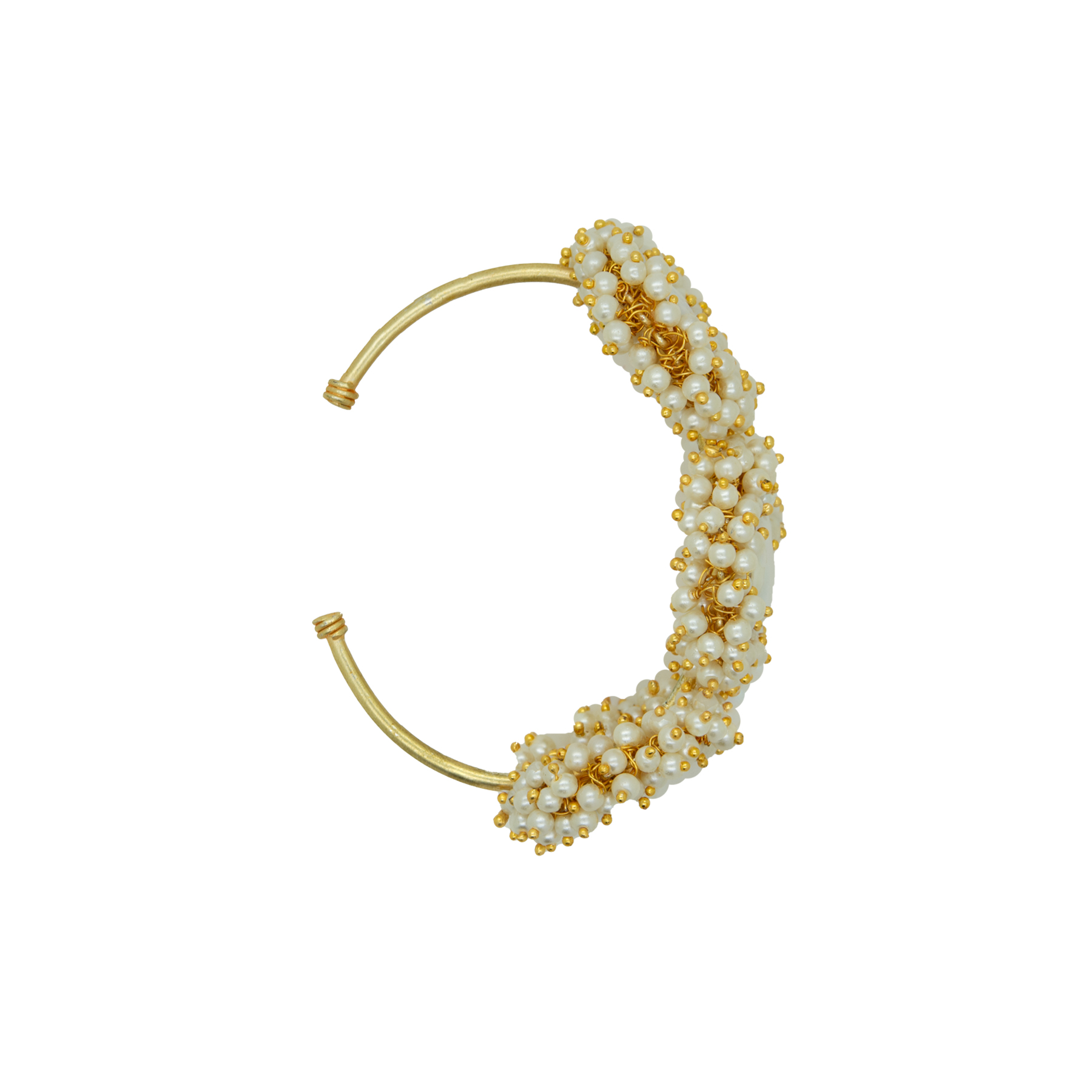 Stylish MOP Unshaped Gold Plated Pearl Bracelet