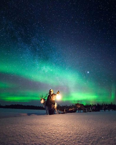 Iin Search of the Northern Lights, Lapland