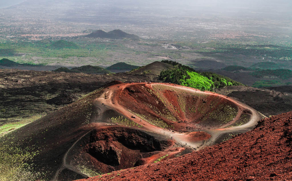 Craters Silvestri on Mount Etna, Sicily, Italy