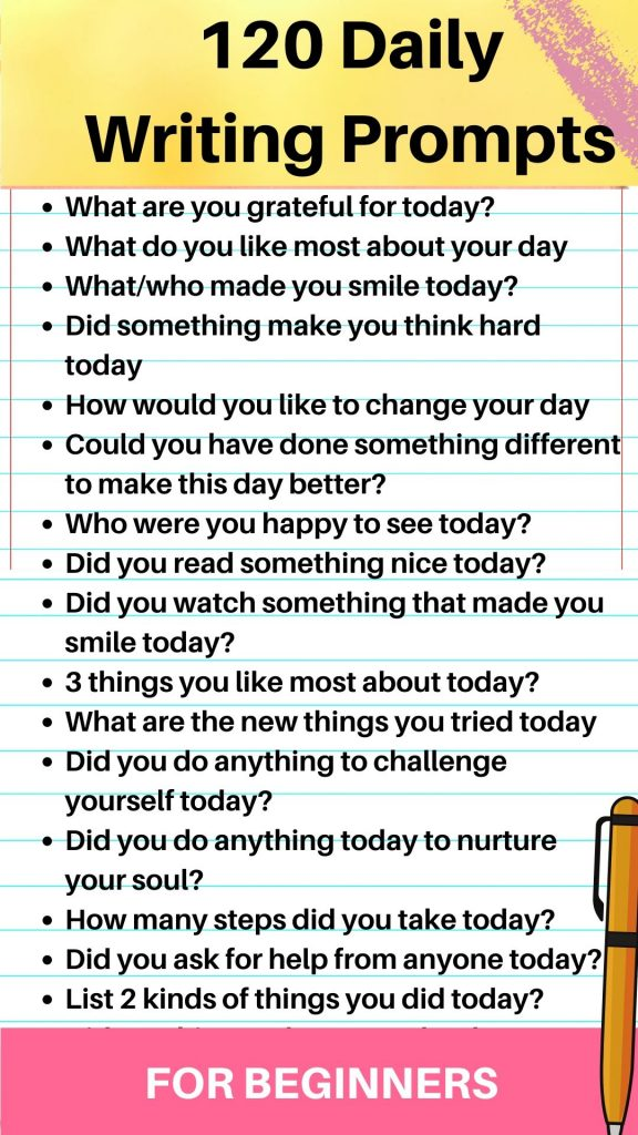 daily writing prompts beginners