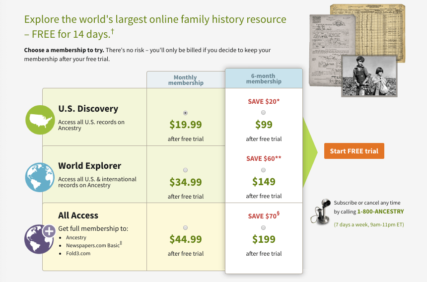 Ancestry.com dna kit review pricing chart.
