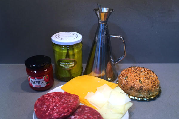 Ingredientes de la Hamburguesa gourmet double chesses