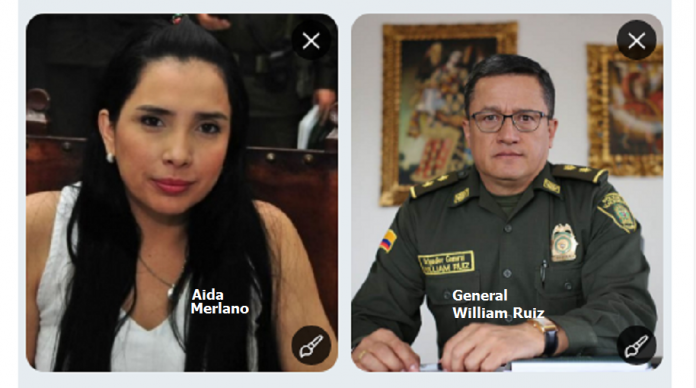 Aida Merlano y William Ruiz