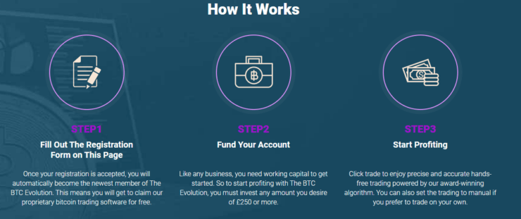 how to sign up to bitcoin evolution