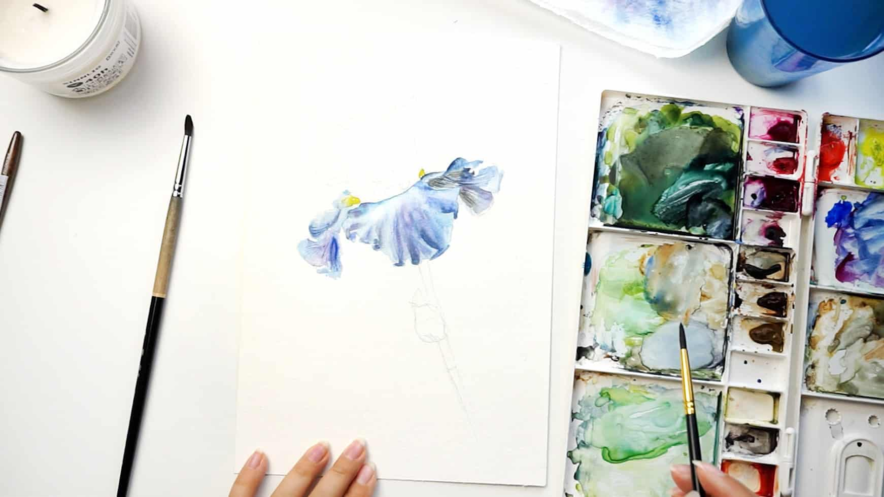watercolor iris step 10