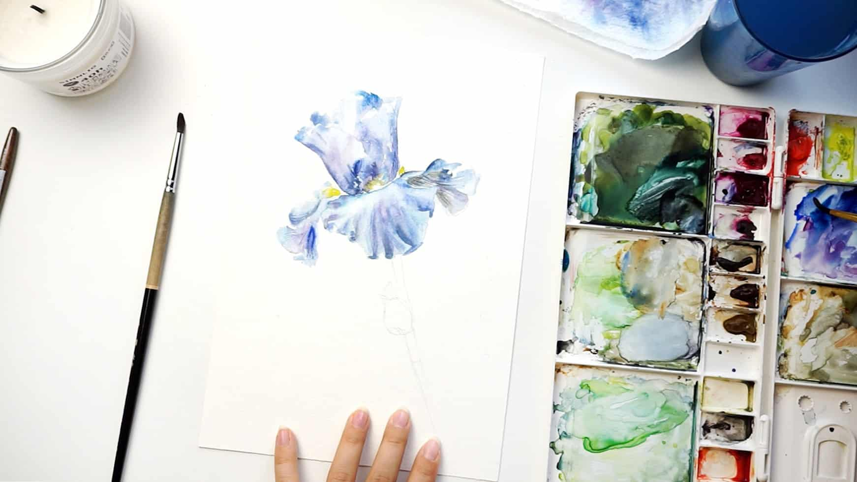 watercolor iris step 13