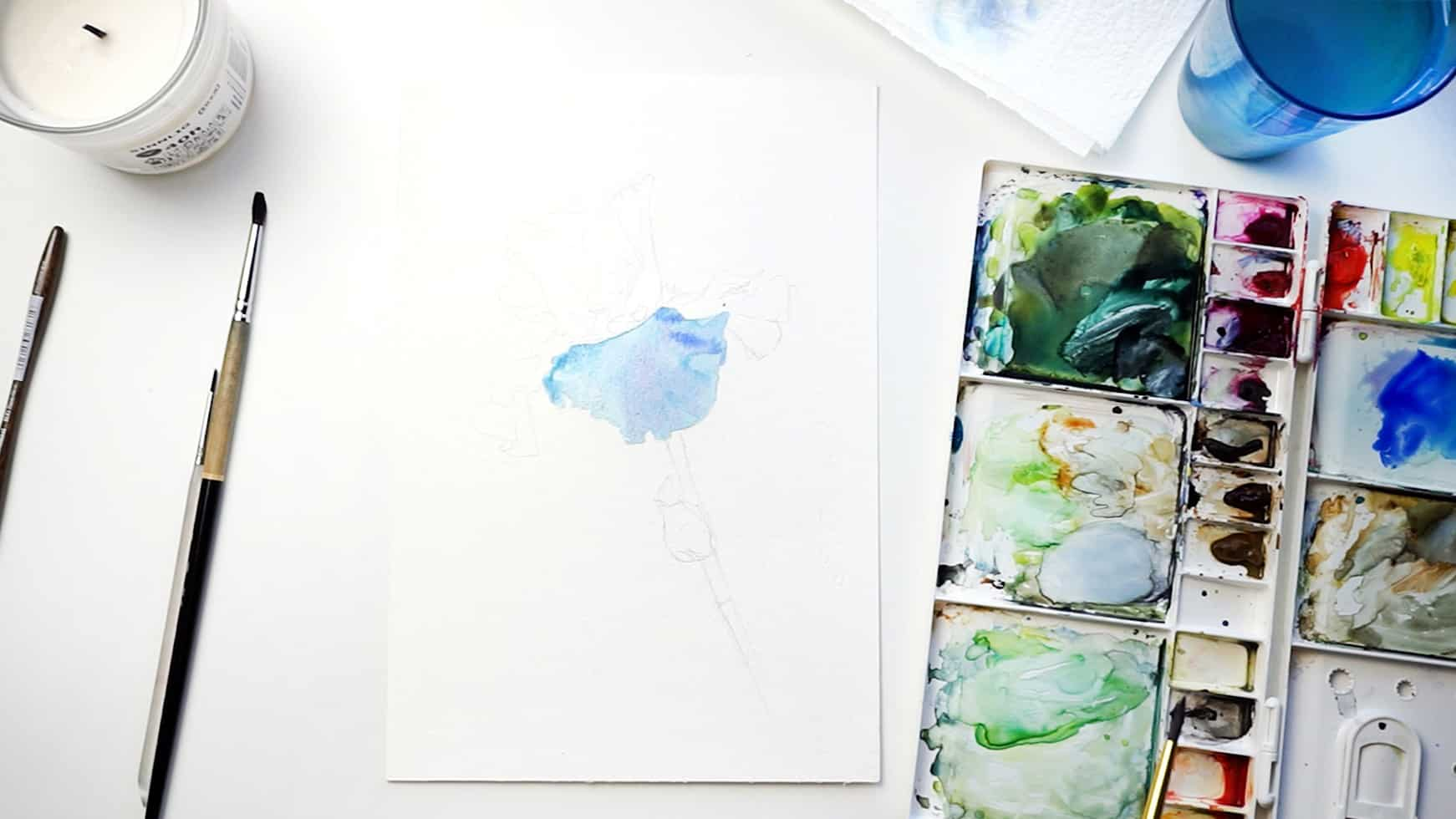 watercolor iris step 3