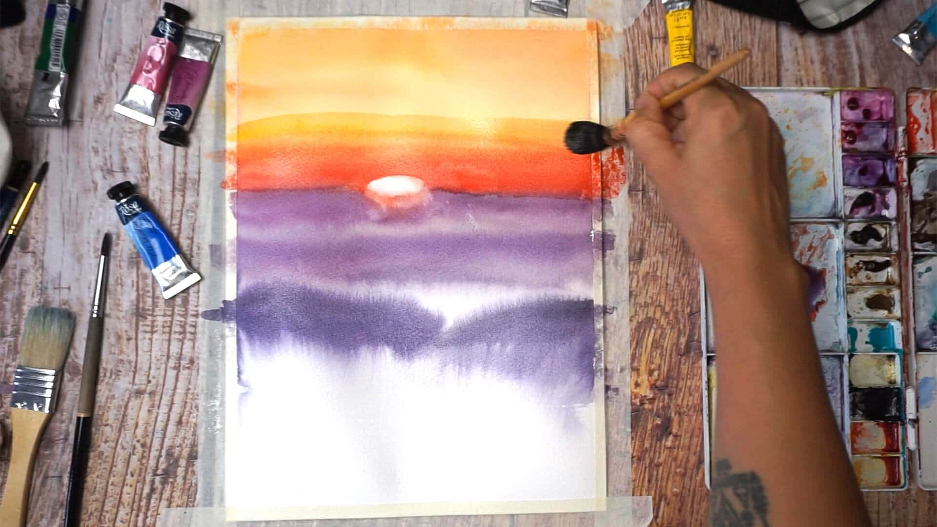 Sept 10 - Paint sunset