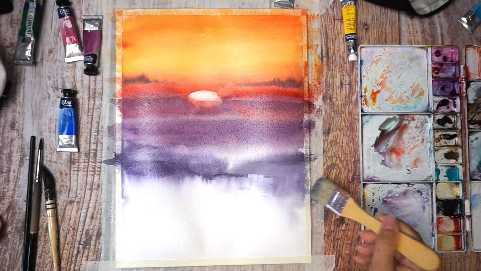 Sept 11 - Paint sunset