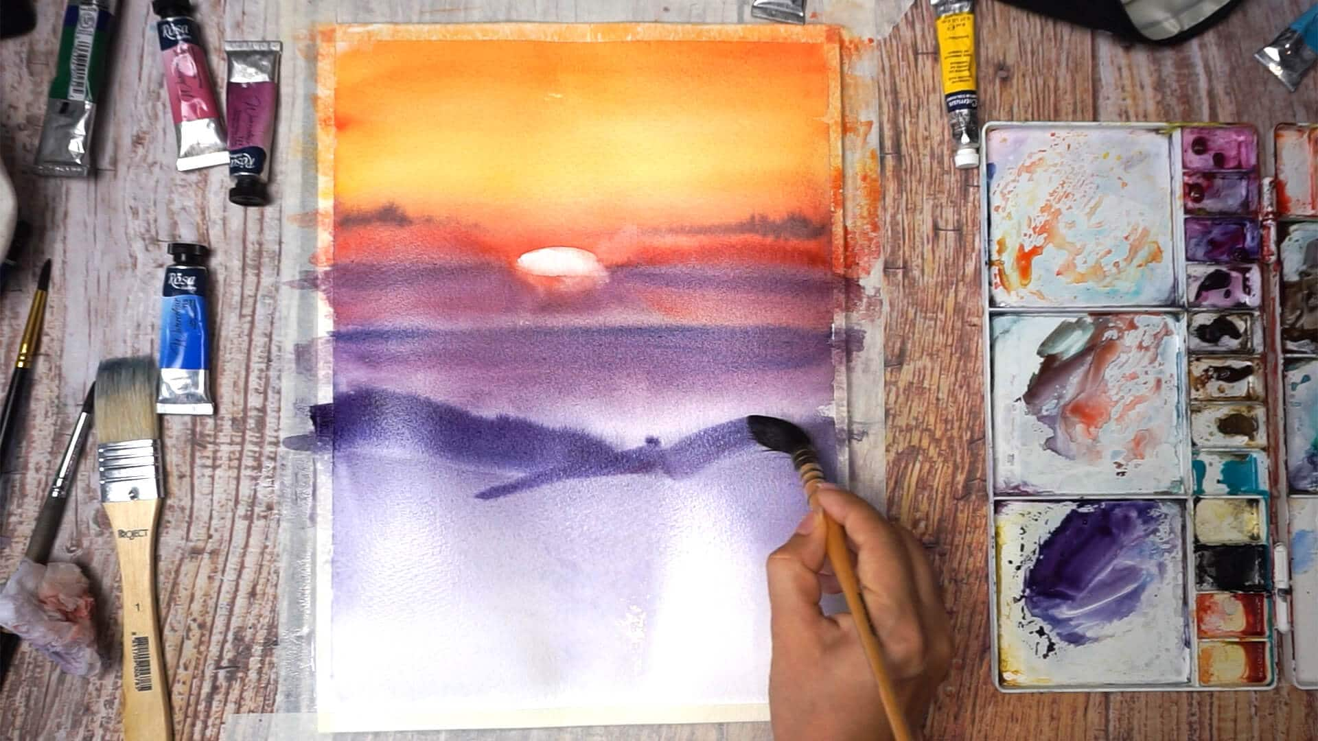 Sept 12 - Paint sunset