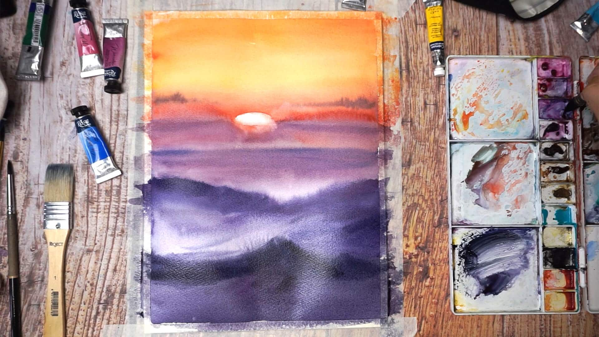 Sept 13 - Paint sunset
