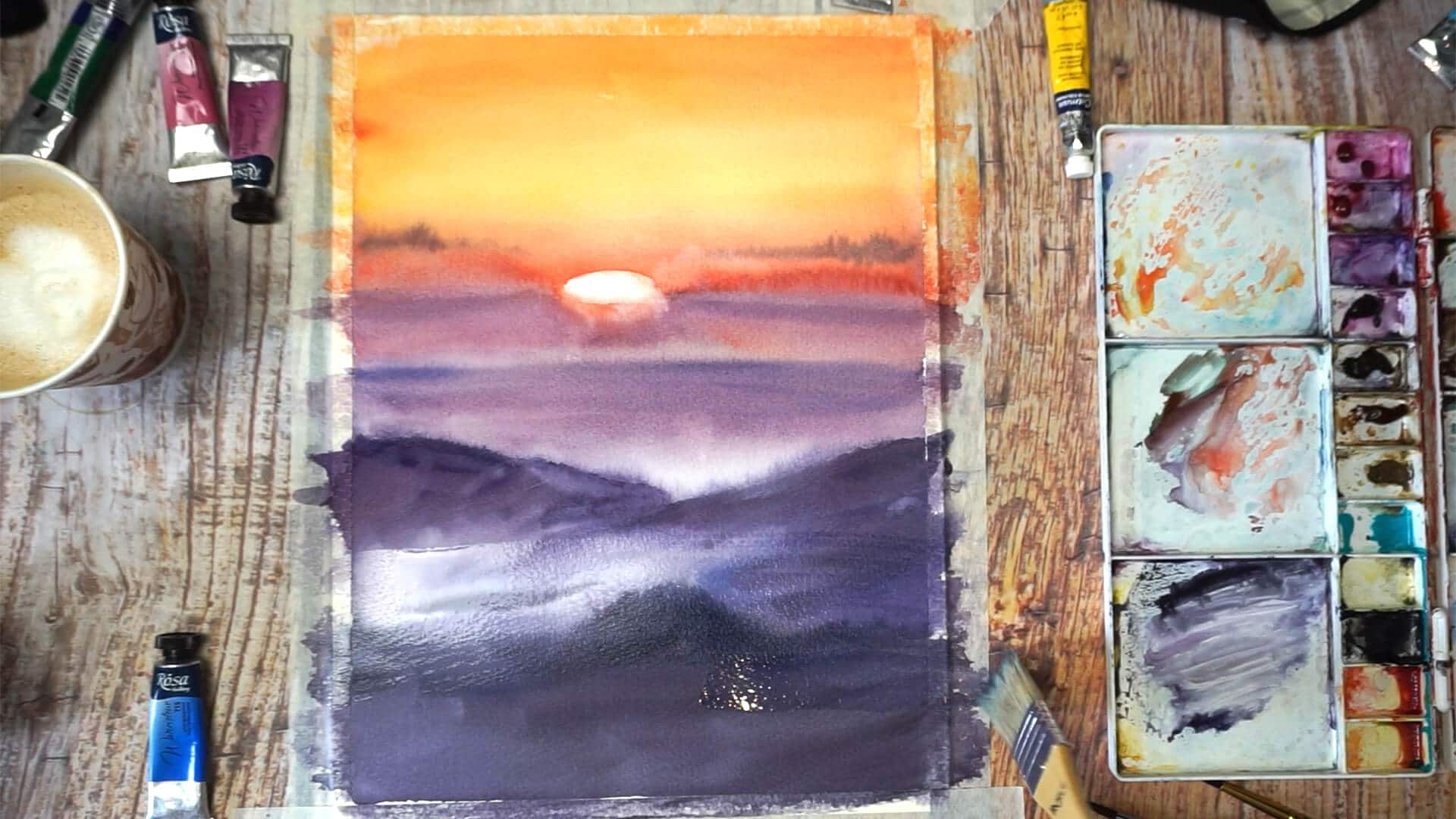 Sept 14 - Paint sunset