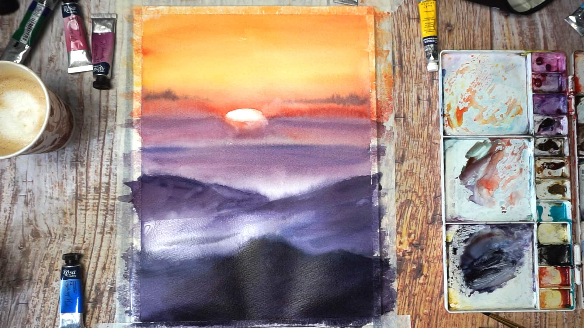 Sept 15 - Paint sunset