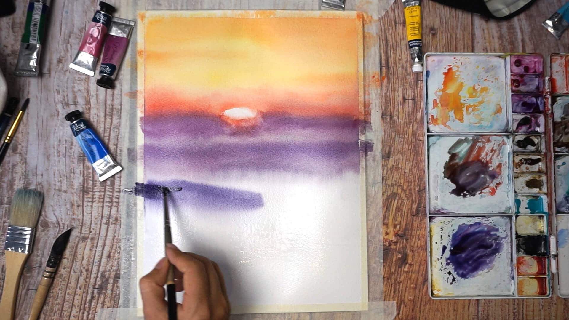 Sept 08 - Paint sunset