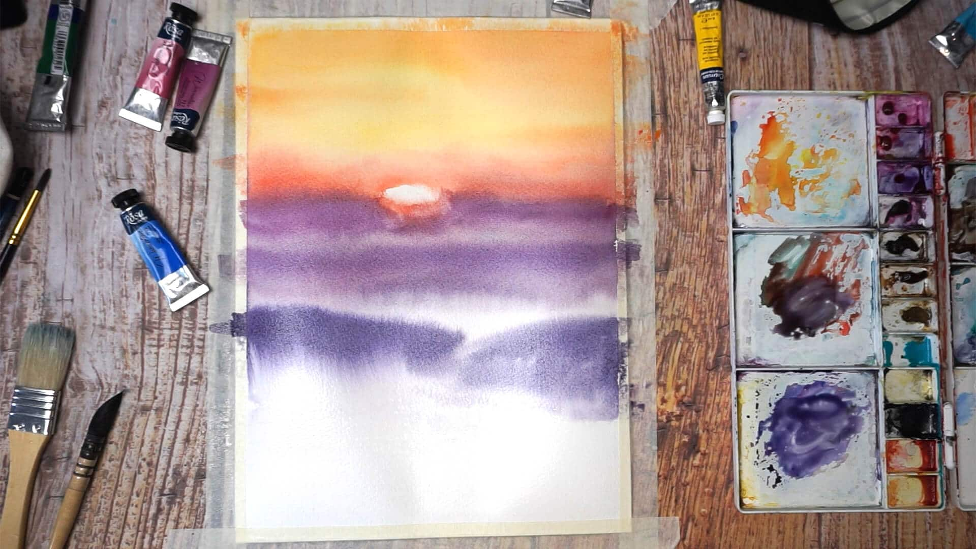 Sept 09 - Paint sunset