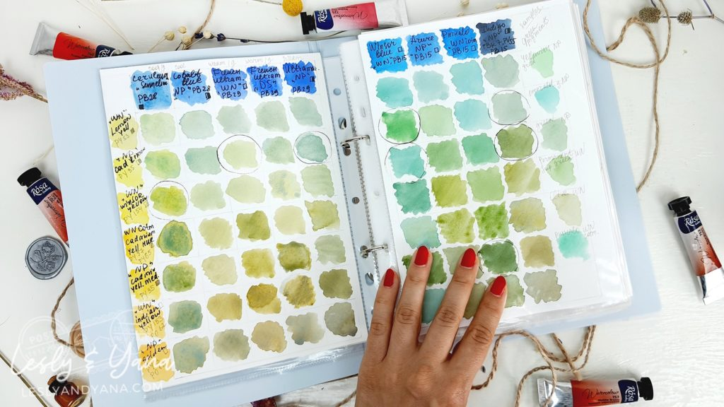 Watercolor Complementary Colors