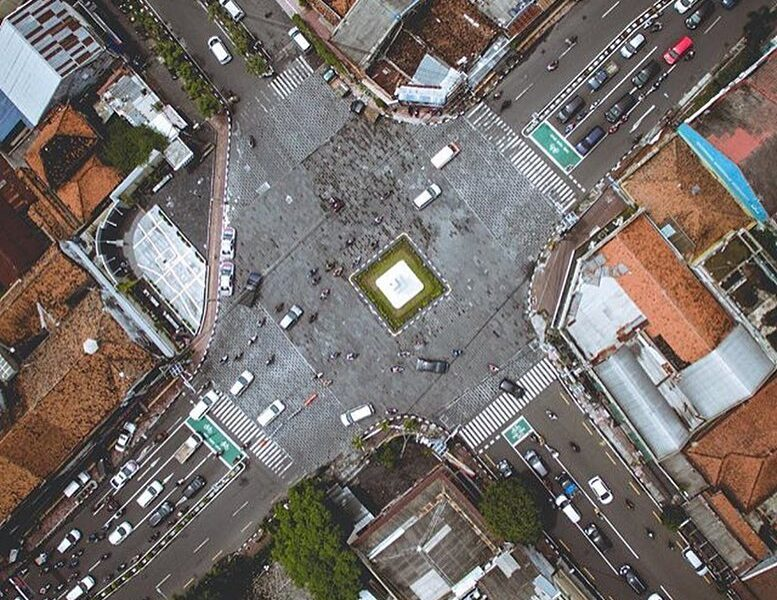 #explorejogja view from the top, covering Tugu Yogyakarta by   So, how's your we...