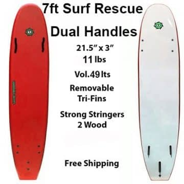 7ft Surf Rescue Soft Surfboard Junior Lifeguard Programs wide longboard