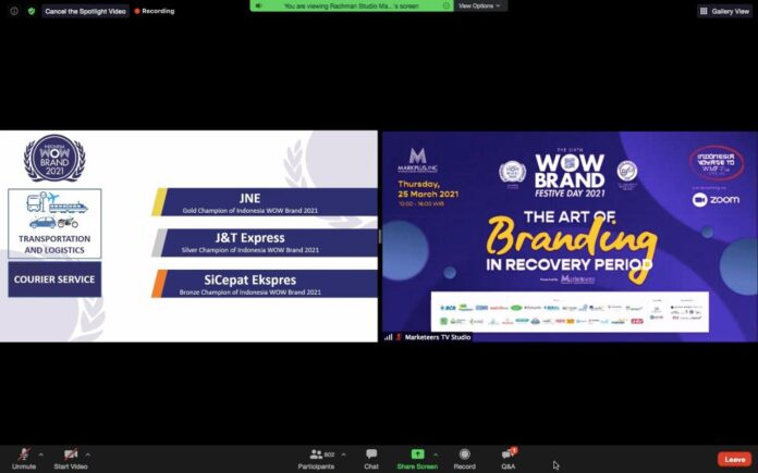 JNE Raih Gold Champion of Indonesia di WOW Brand Festive Day 2021