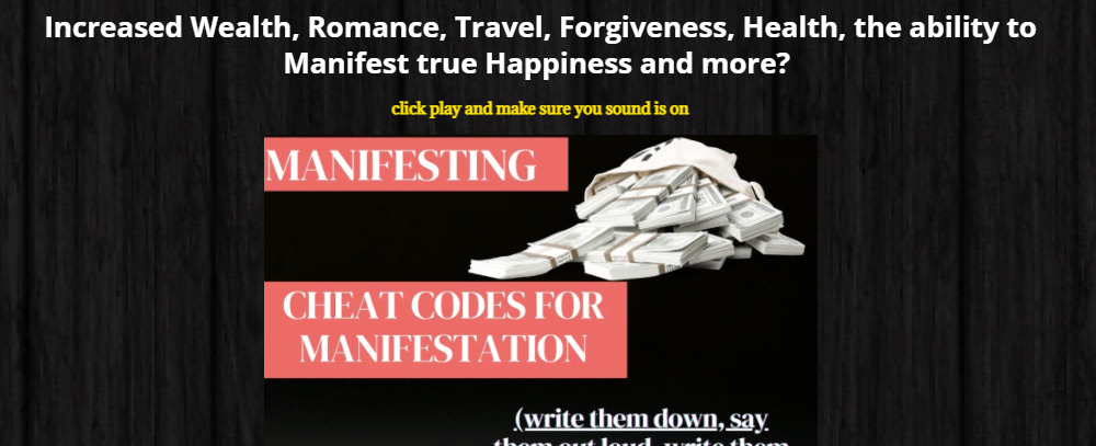 Cheat Codes – Hot Manifestation Offer Reviews