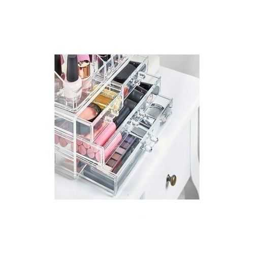 As Seen On Tv Cosmetic Makeup Organizer Box With 4 Drawers - Clear 2