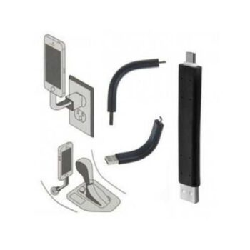 Bendable Yy005 Lightning To Usb Data Adapter For Iphone Devices - Black