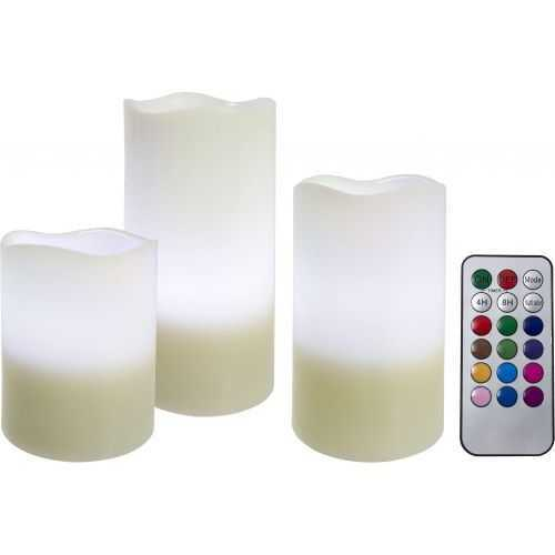 Led Candle With Remote Control - 3 Pcs