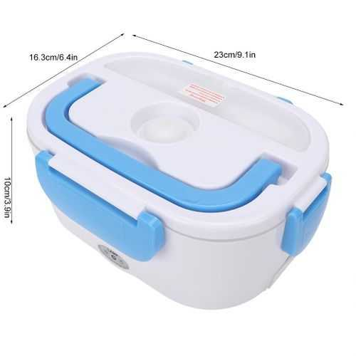 Portable Double Layer Electric Heating Lunch Box - 1Pcs 2
