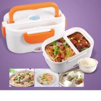 Portable Double Layer Electric Heating Lunch Box - 1Pcs