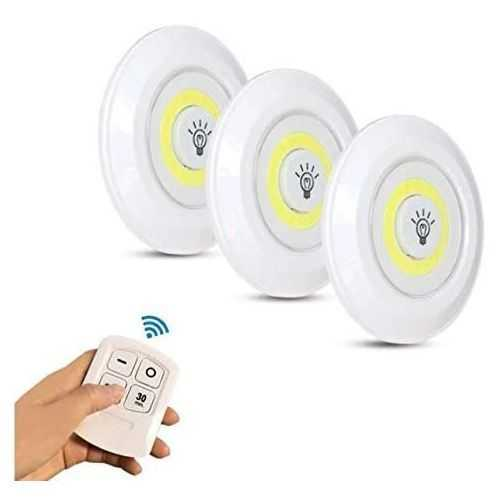 03 Led Spotlights With Remote Control - 3 Pcs 3