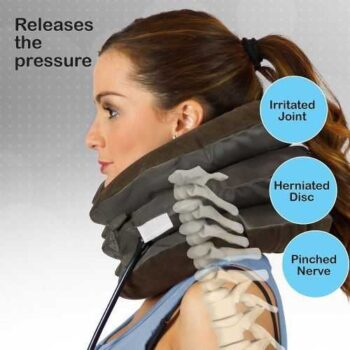 Air Cushion With Neck Control - Brown